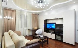 Интерьер гостиной 18 метров в двухкомнатной квартире