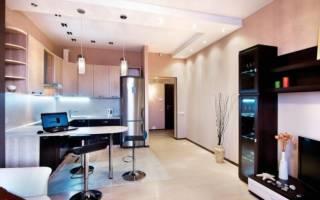 Интерьер кухни гостиной 18