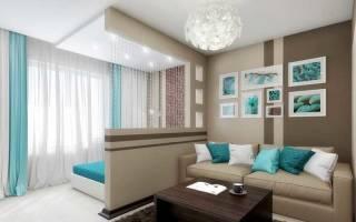 Дизайн спальни две зоны