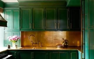 Зеленый интерьер квартиры