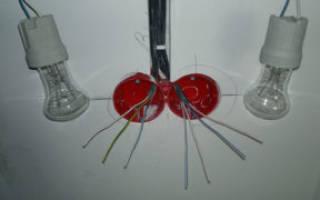 Схема подключения в коробке выключатель розетка лампочка