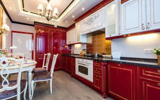 Интерьер маленькой классической кухни