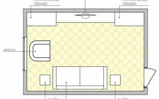 Интерьер гостиной прямоугольной формы 18 кв м