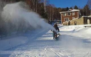 Снегоуборщик своими руками из бензопилы штиль