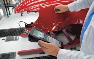 Как проверять толщиномером краску авто