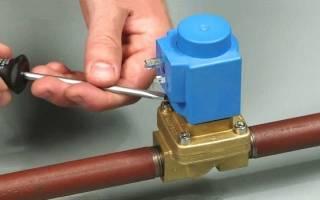 Принцип работы электромагнитного клапана для воды