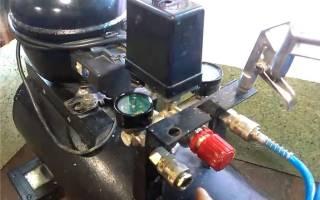 Как сделать из компрессора холодильника воздушный компрессор