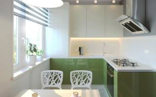 Интерьер маленькой кухни 7