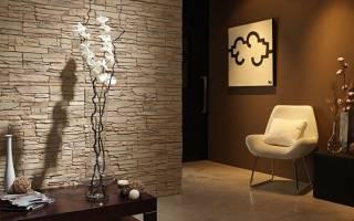 Дизайн стены искусственным камнем