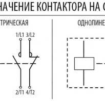 Как на схеме обозначается контактор