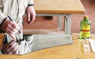 Чем можно разрезать зеркало в домашних условиях