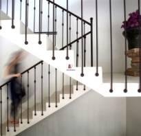 Кованые лестничные перила фото