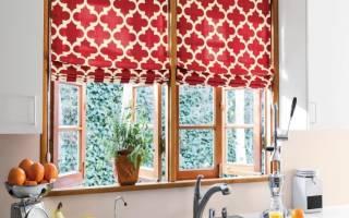 Интерьер кухни шторы на окна фото