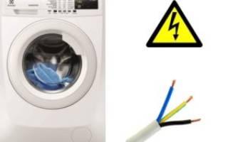 Сечение провода для подключения стиральной машины