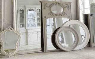 Зеркало соты в интерьере