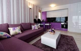 Интерьер гостиной в сиреневом цвете фото