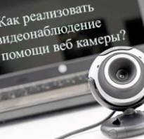 Видеонаблюдение с помощью компьютера