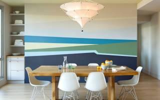 Интерьер окраска стен