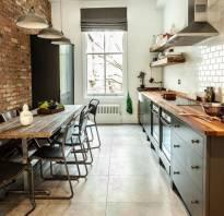 Интерьер кухни в стиле лофт фото