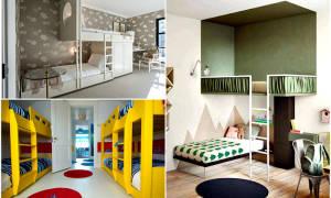Дизайн детской с диваном и кроватью