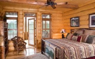 Дизайн спален в деревянном доме