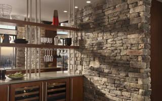 Интерьер кухни из камня