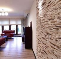 Декор стен искусственным камнем