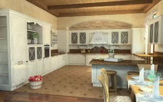 Красивый интерьер кухни в частном доме