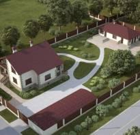 Дизайн участка с постройками