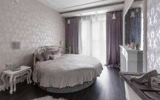 Дизайн спальни в сером цвете фото