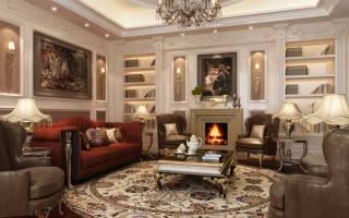 Интерьер гостиной классика фото