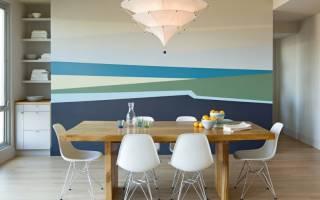 Дизайн стены над обеденным столом