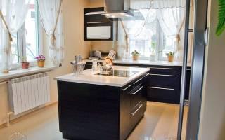 Интерьер кухни с островом фото