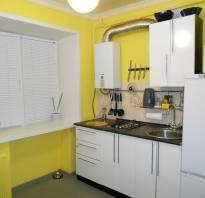 Интерьер кухни в хрущевке с газовой