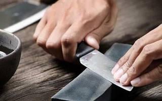 Как правильно затачивать ножи бруском видео