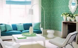 Зеленый цвет стен в интерьере