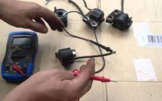 Как проверить катушку зажигания бензопилы мультиметром видео