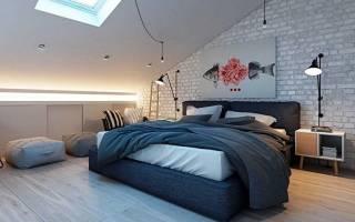 Дизайн спальни на втором этаже