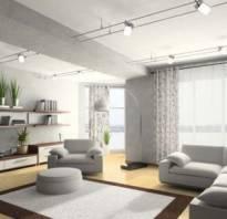 Интерьер с серой мебелью