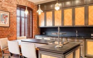 Интерьер кухни освещение