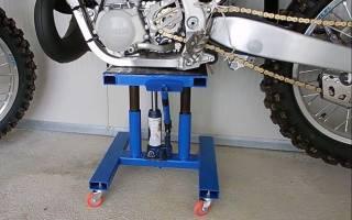 Размеры подката для мотоцикла своими руками