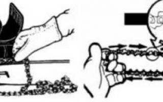 Как правильно натягивать цепь на электропиле