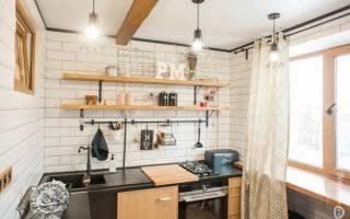 Интерьер кухни с раковиной