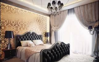 Дизайн спальни с темной мебелью фото
