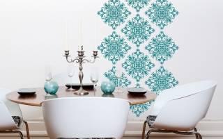 Дизайн стен трафаретами