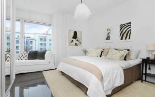 Дизайн спальни со светлой мебелью