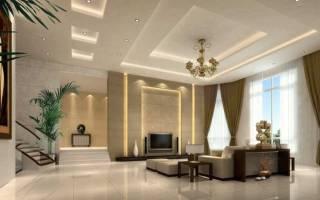 Интерьер гостиной в большом доме