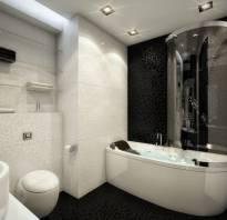 Дизайн темной ванной комнаты