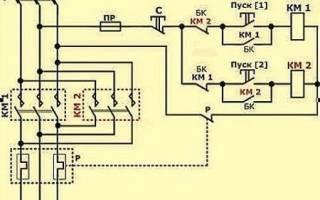 Схема реверса 3 х фазного двигателя