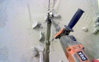 Как сделать штробу в бетоне болгаркой